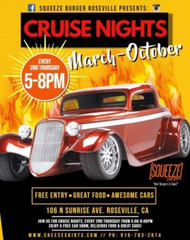 Squeeze Burger Roseville Cruise Nights @ Squeeze Burger