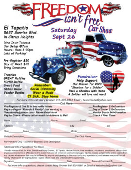 Freedom isn't free Car Show @ El Tapatio