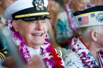 Lou Conter's 99th Birthday Cruise-By @ NUHS Parking Lot